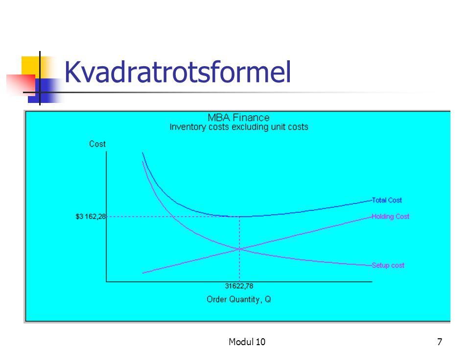 Kvadratrotsformel Modul 10