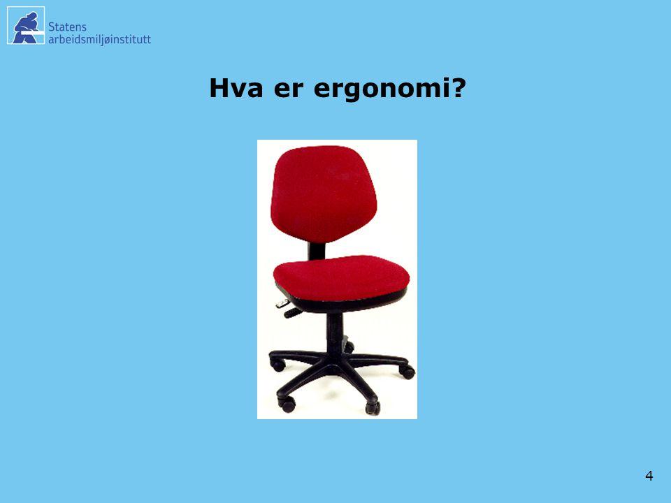 Hva er ergonomi