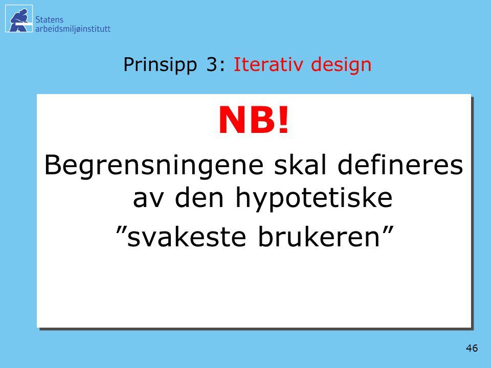 Prinsipp 3: Iterativ design