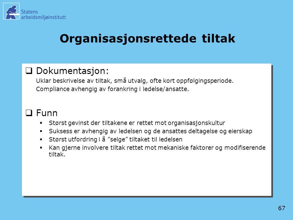 Organisasjonsrettede tiltak