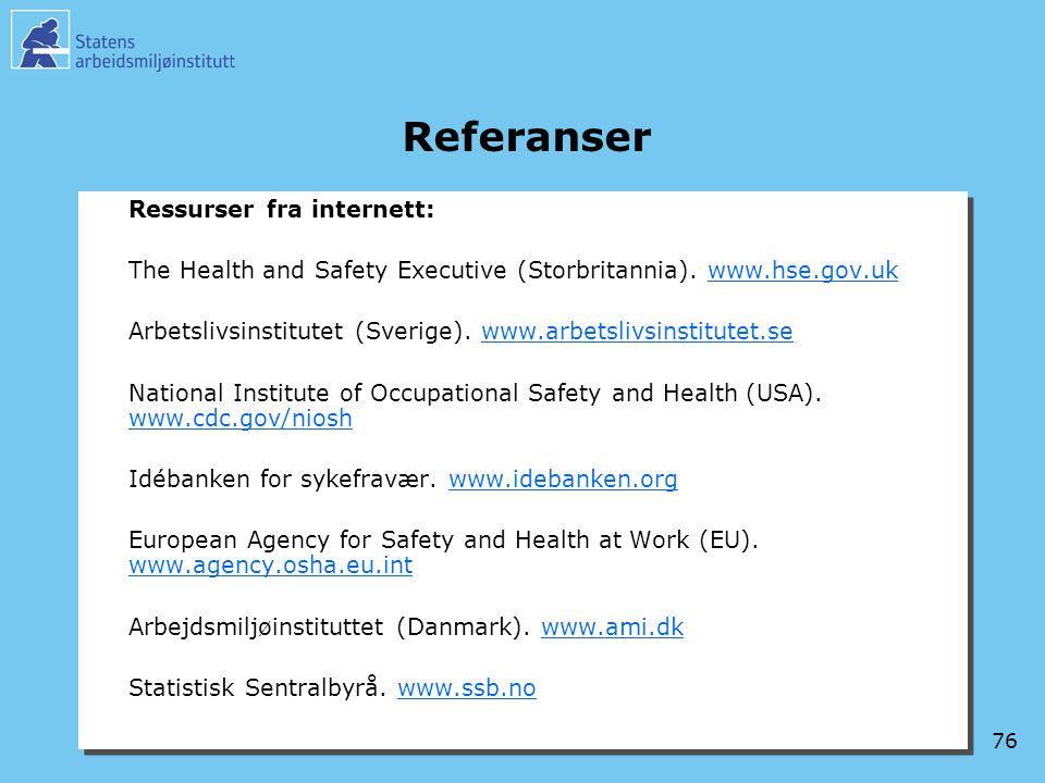 Referanser Ressurser fra internett: