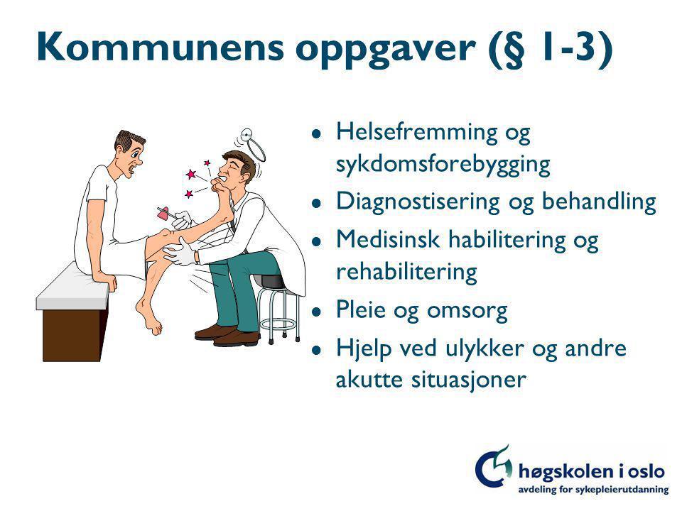 Kommunens oppgaver (§ 1-3)