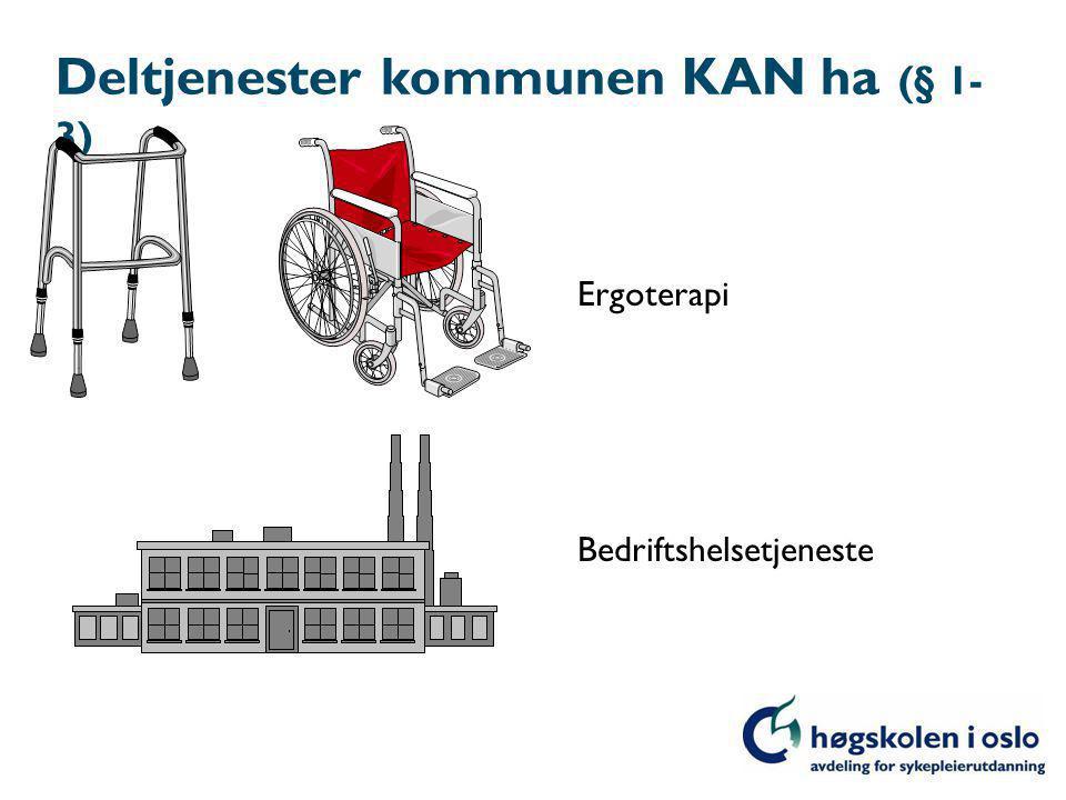Deltjenester kommunen KAN ha (§ 1-3)