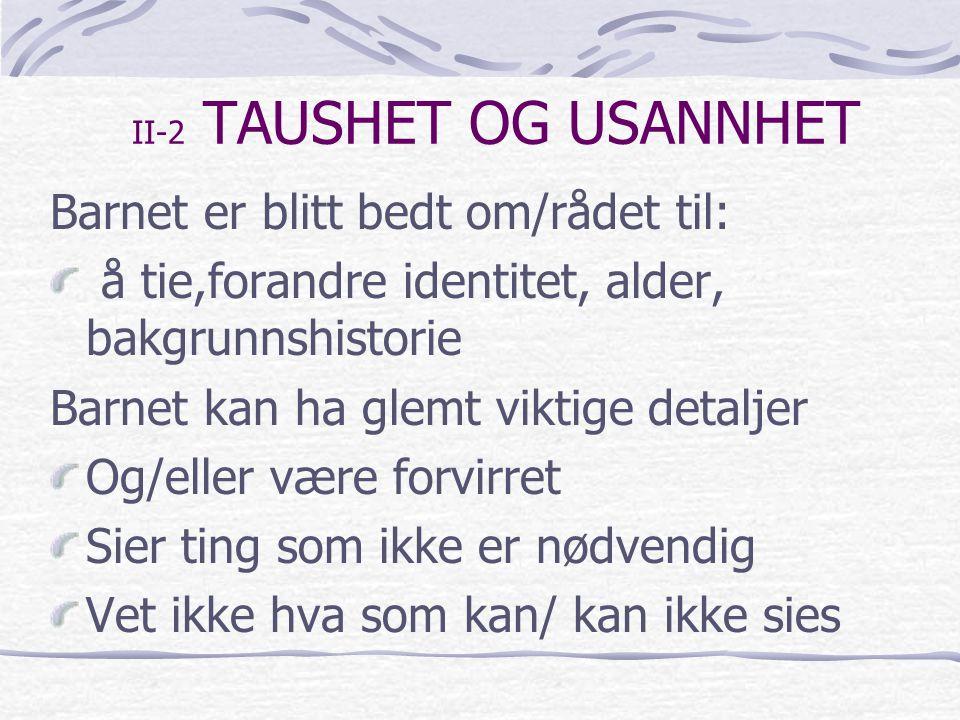 II-2 TAUSHET OG USANNHET