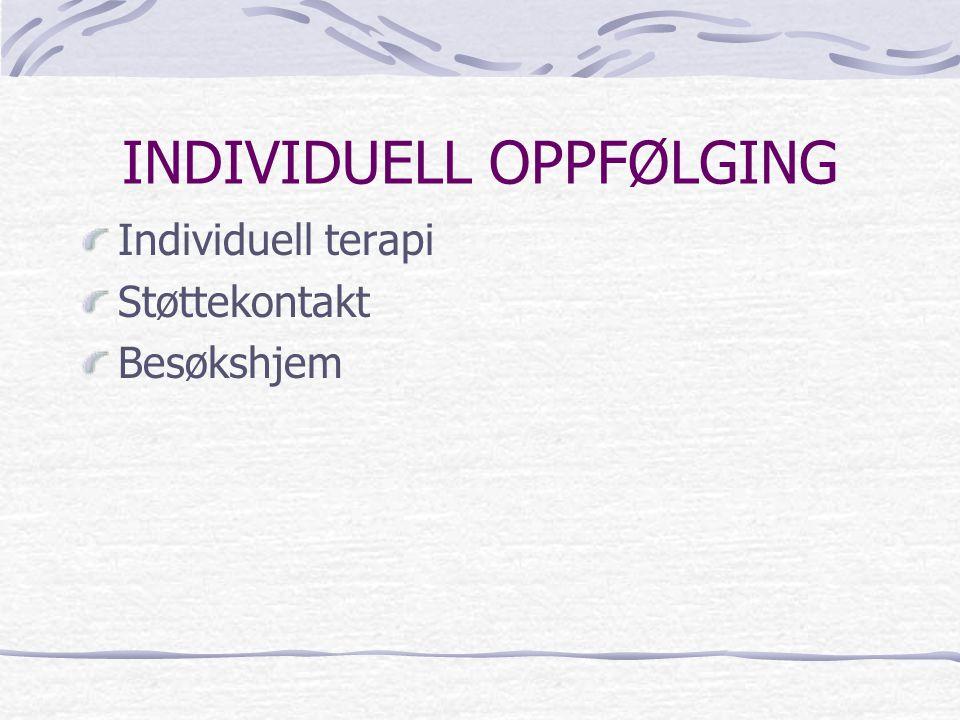 INDIVIDUELL OPPFØLGING