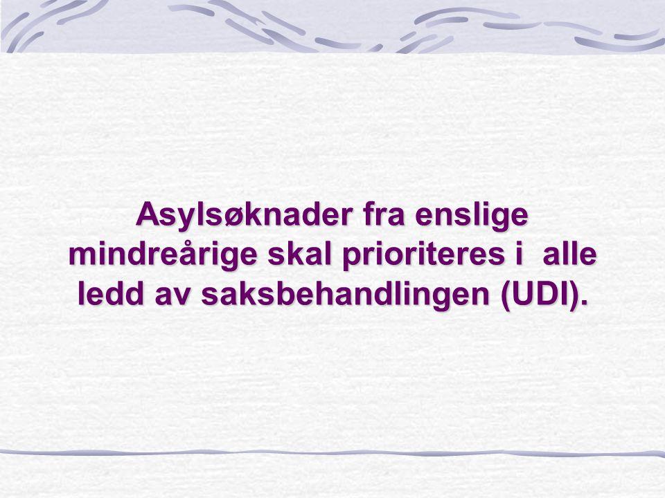 Asylsøknader fra enslige mindreårige skal prioriteres i alle ledd av saksbehandlingen (UDI).
