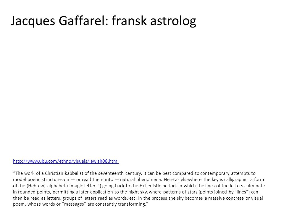 Jacques Gaffarel: fransk astrolog