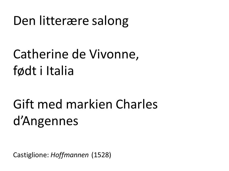 Gift med markien Charles d'Angennes