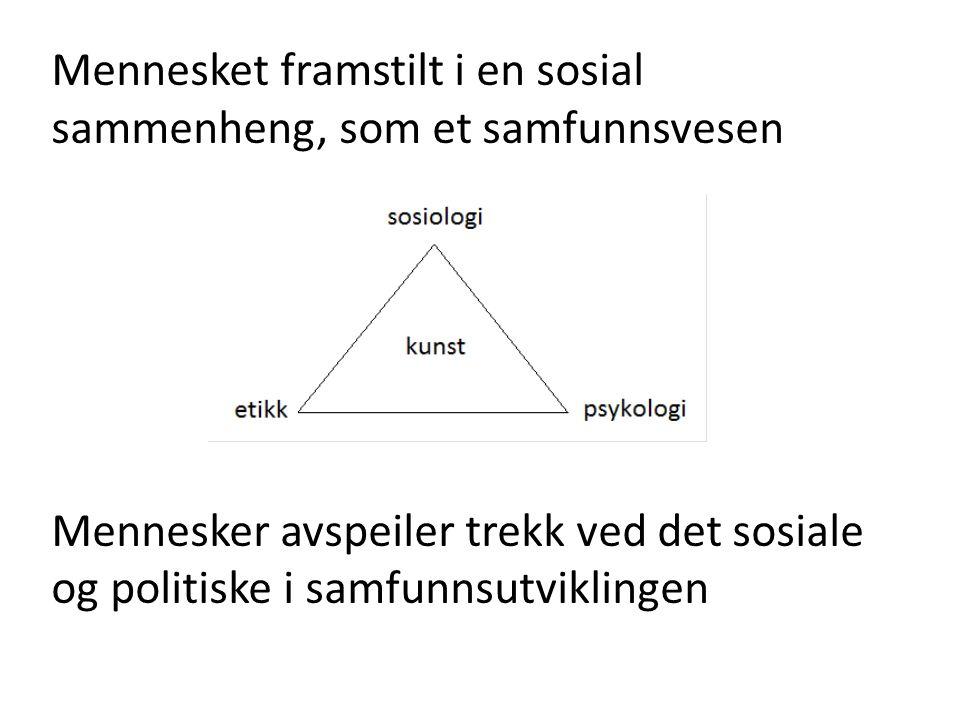 Mennesket framstilt i en sosial sammenheng, som et samfunnsvesen