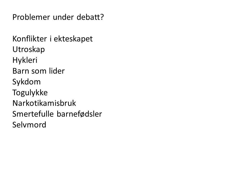 Problemer under debatt