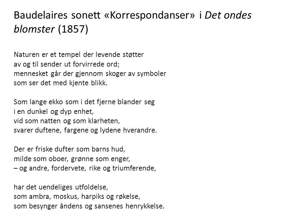 Baudelaires sonett «Korrespondanser» i Det ondes blomster (1857)