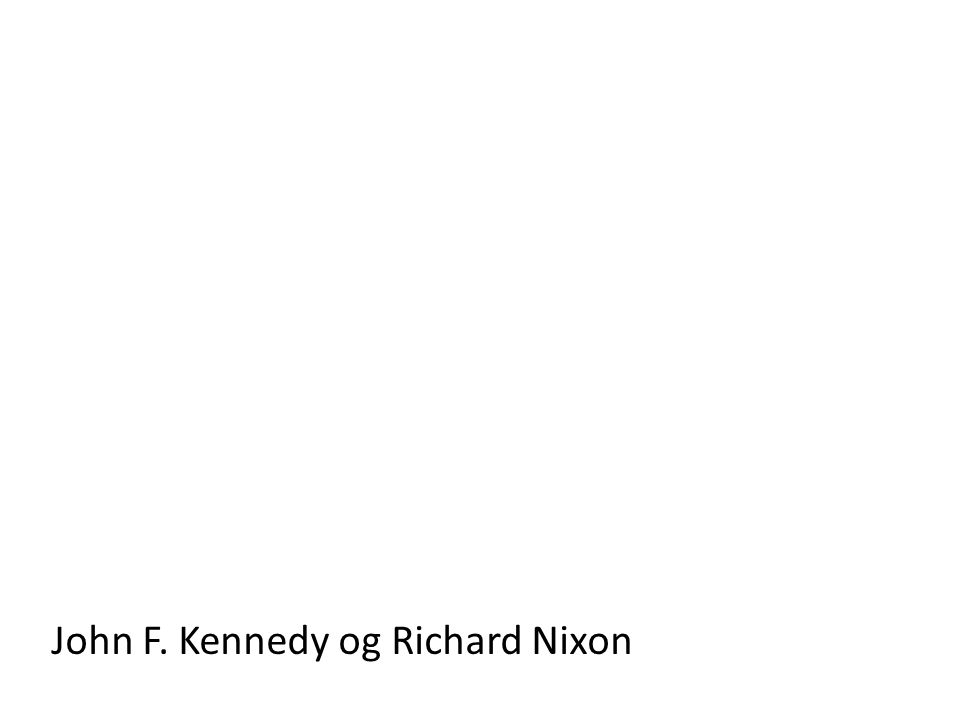 John F. Kennedy og Richard Nixon