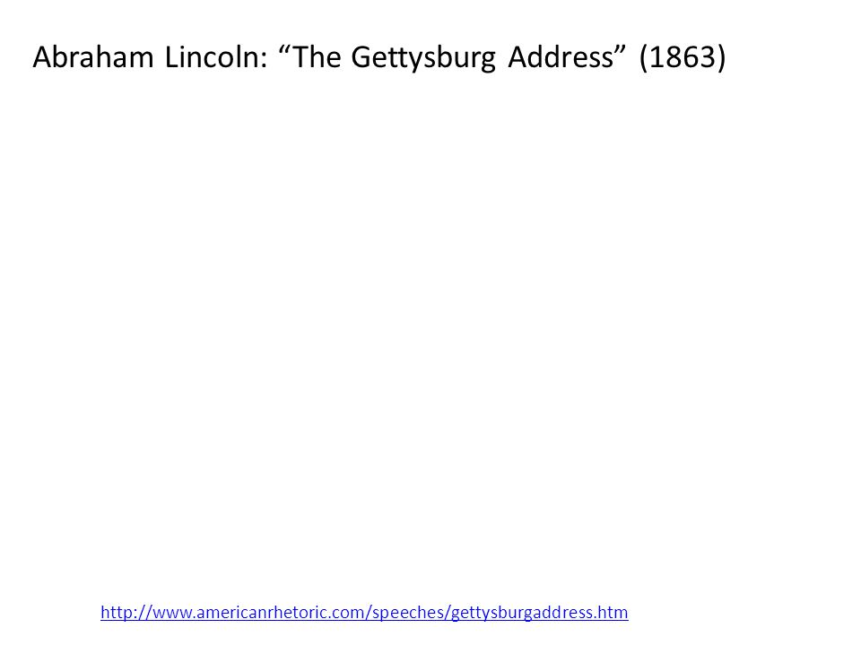 Abraham Lincoln: The Gettysburg Address (1863)