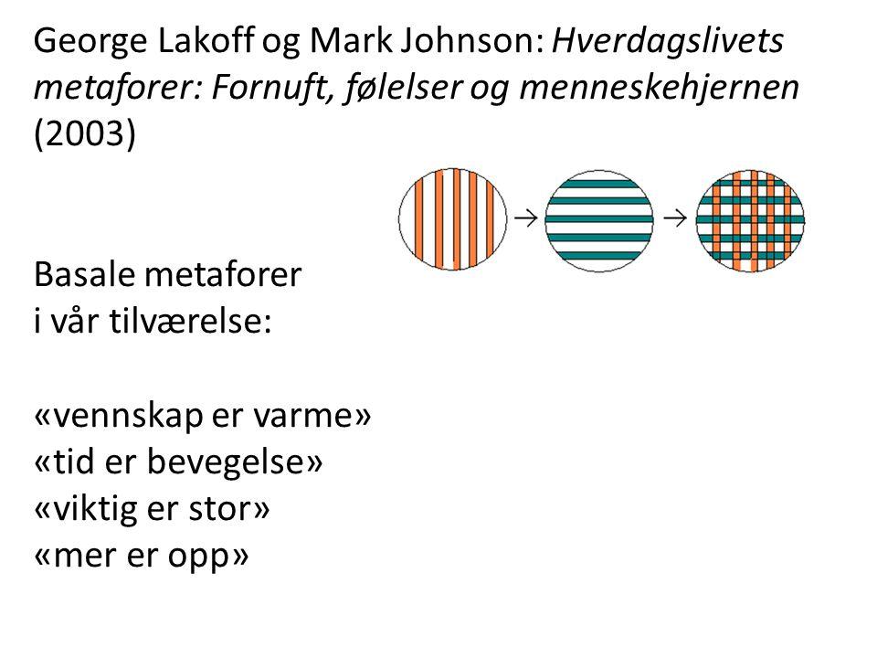 George Lakoff og Mark Johnson: Hverdagslivets metaforer: Fornuft, følelser og menneskehjernen (2003)