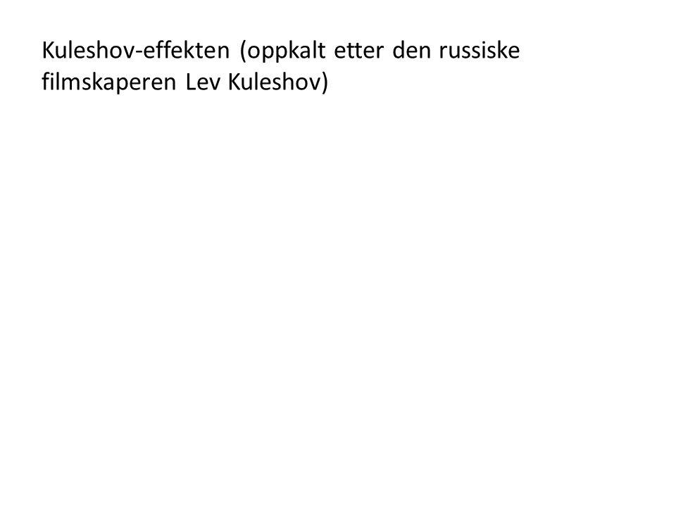 Kuleshov-effekten (oppkalt etter den russiske filmskaperen Lev Kuleshov)