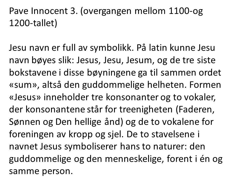 Pave Innocent 3. (overgangen mellom 1100-og 1200-tallet)
