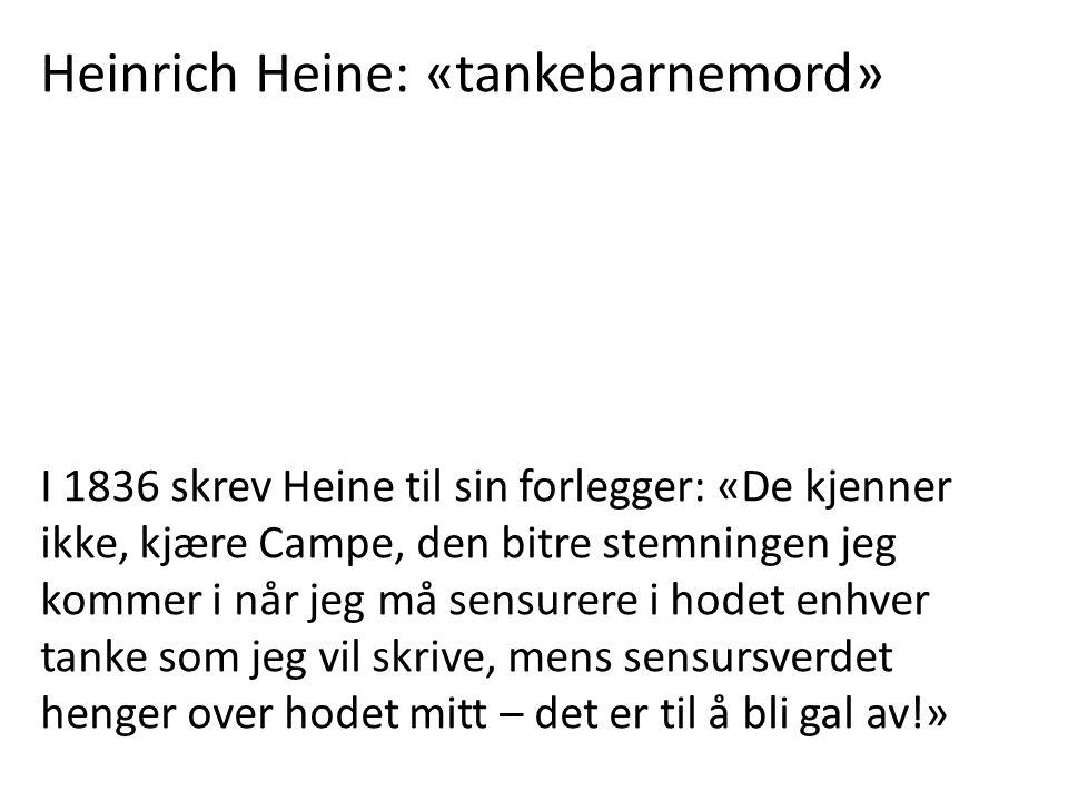 Heinrich Heine: «tankebarnemord»
