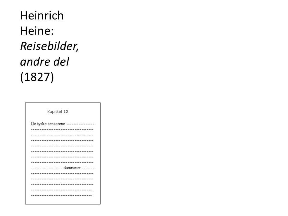 Heinrich Heine: Reisebilder, andre del (1827)