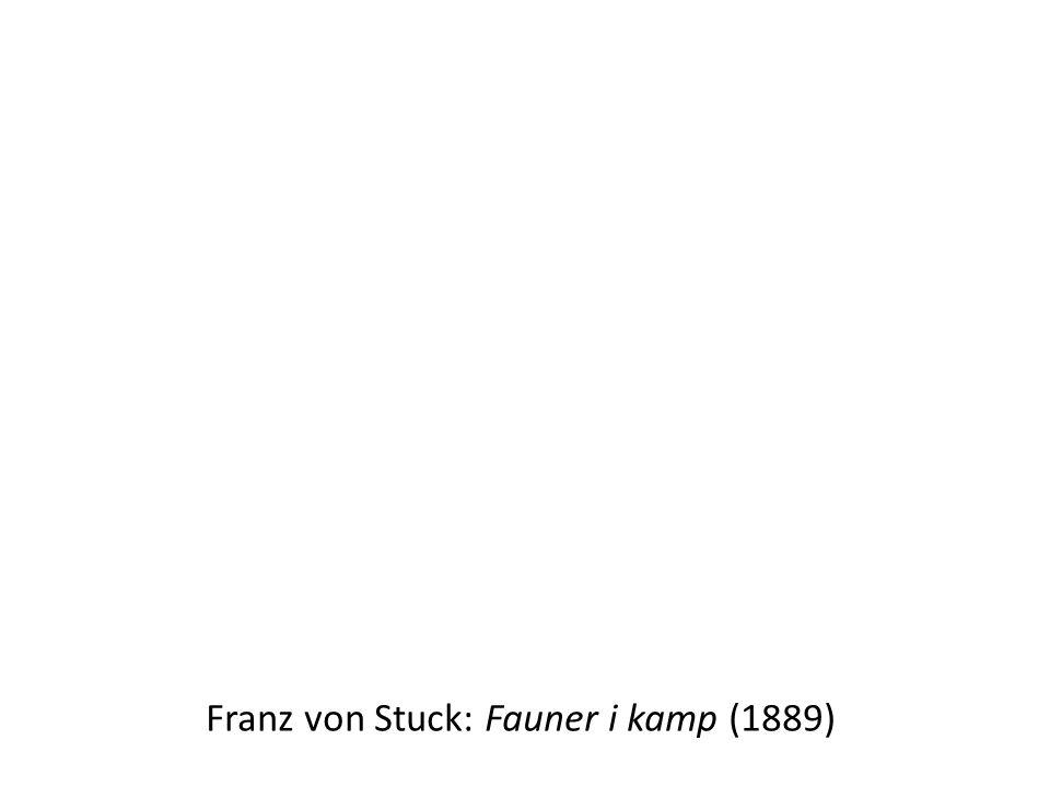 Franz von Stuck: Fauner i kamp (1889)