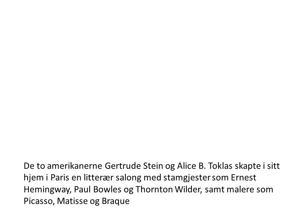 De to amerikanerne Gertrude Stein og Alice B