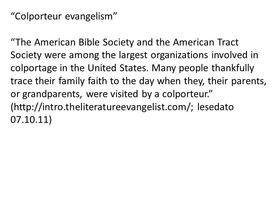 Colporteur evangelism