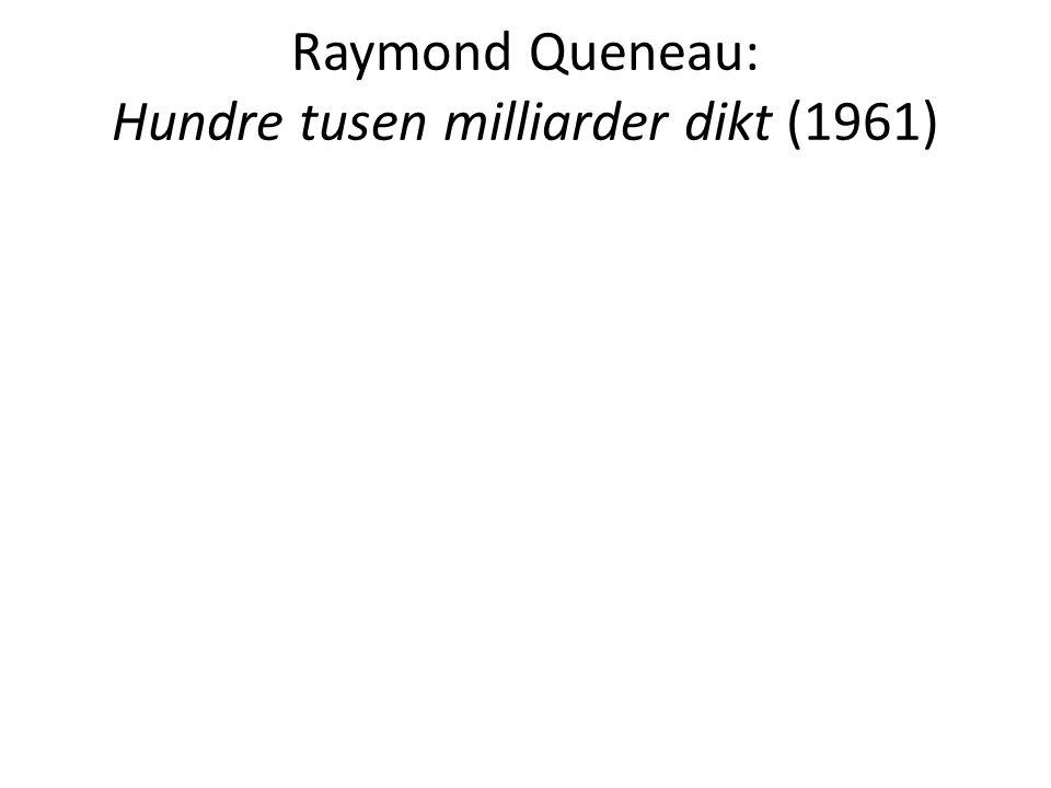 Raymond Queneau: Hundre tusen milliarder dikt (1961)