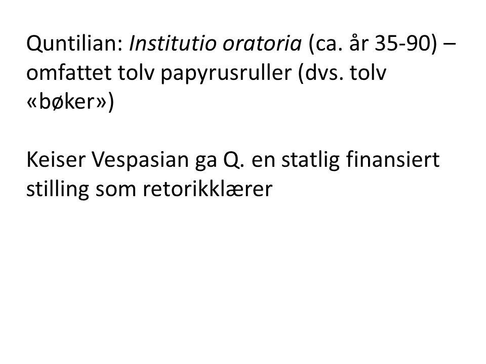 Quntilian: Institutio oratoria (ca