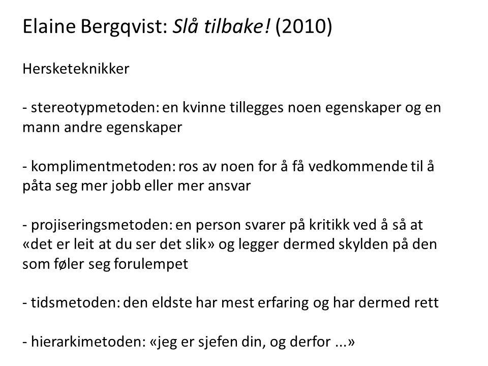 Elaine Bergqvist: Slå tilbake! (2010)