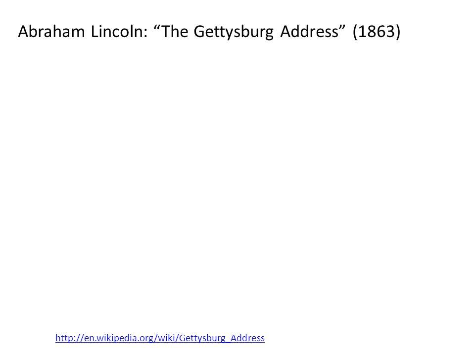 Abraham Lincoln: The Gettysburg Address (1863)