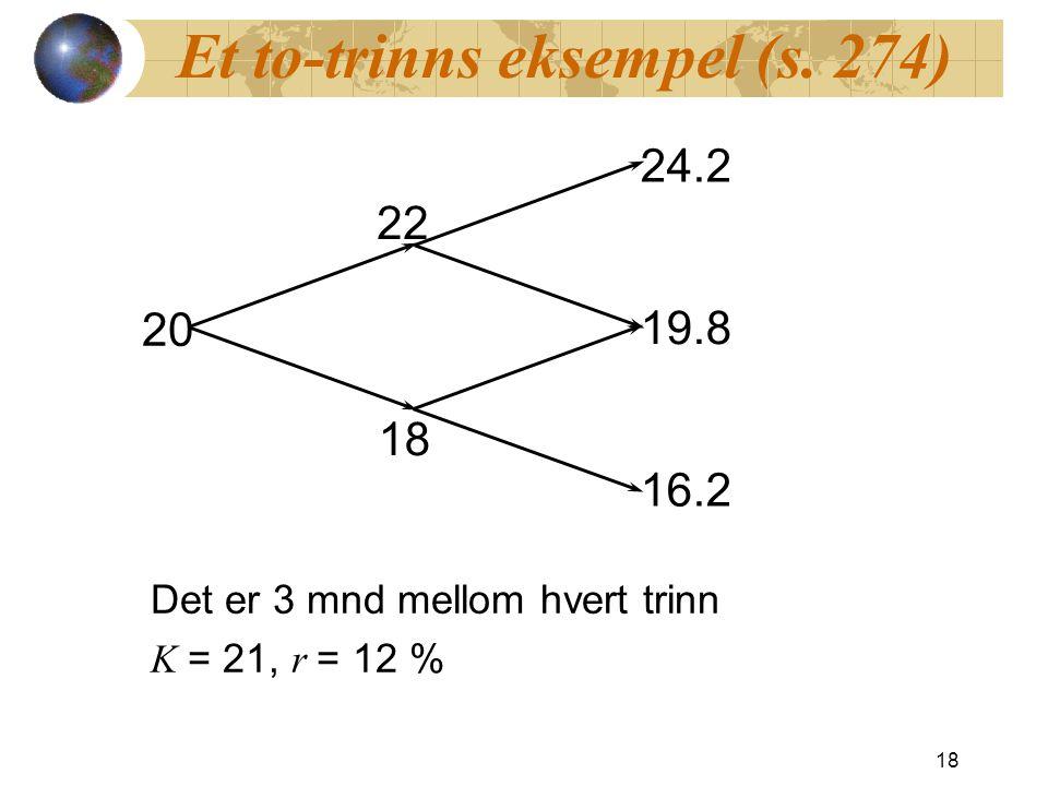 Et to-trinns eksempel (s. 274)