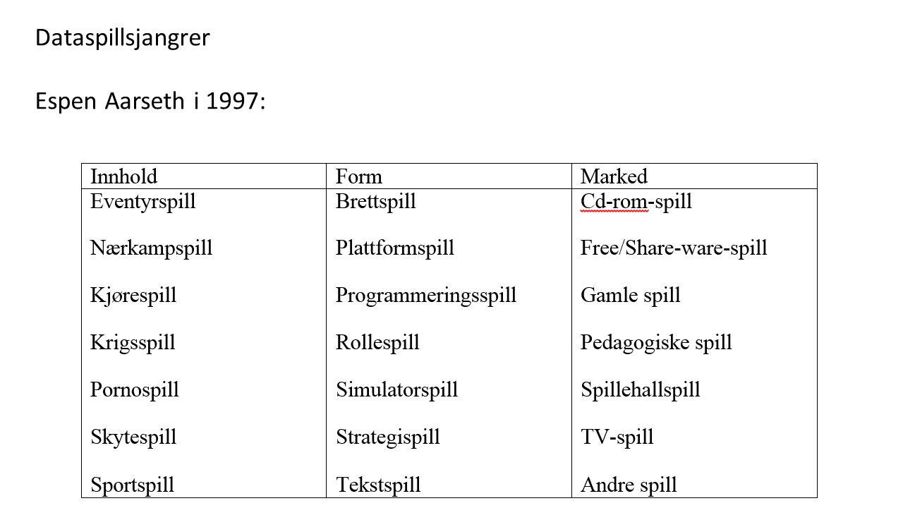 Dataspillsjangrer Espen Aarseth i 1997:
