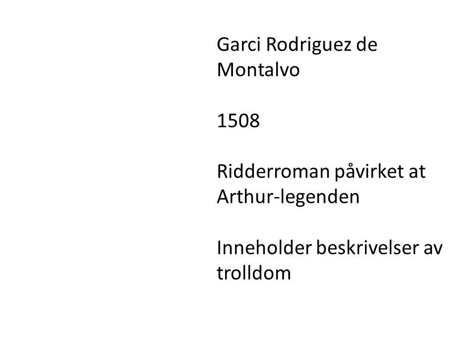 Garci Rodriguez de Montalvo