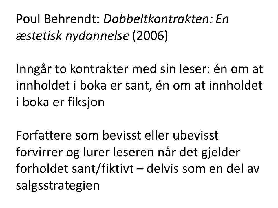 Poul Behrendt: Dobbeltkontrakten: En æstetisk nydannelse (2006)