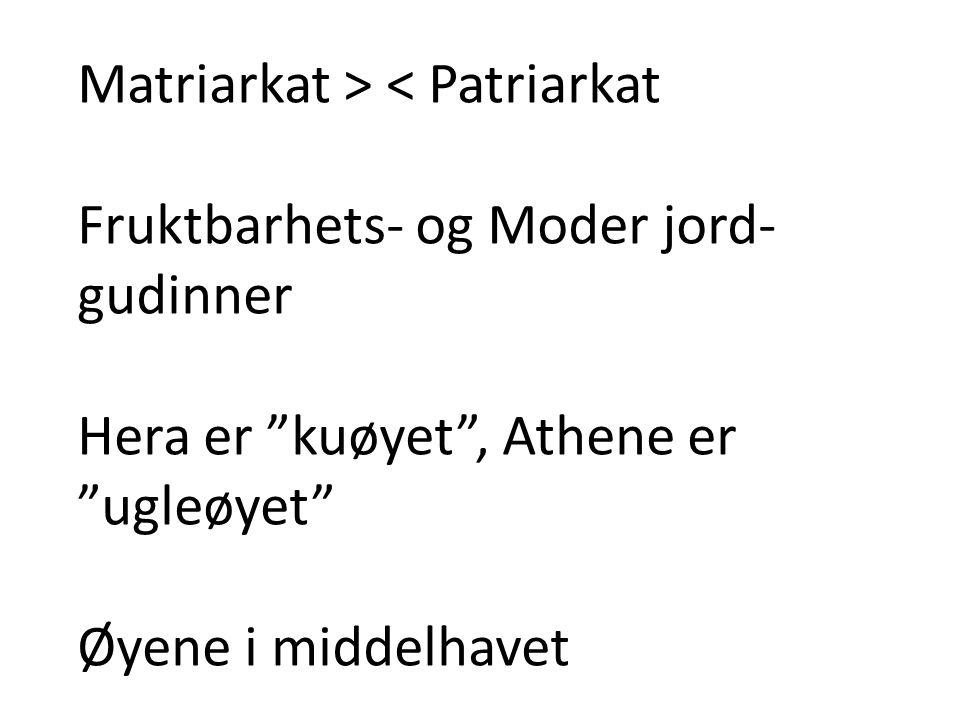 Matriarkat > < Patriarkat