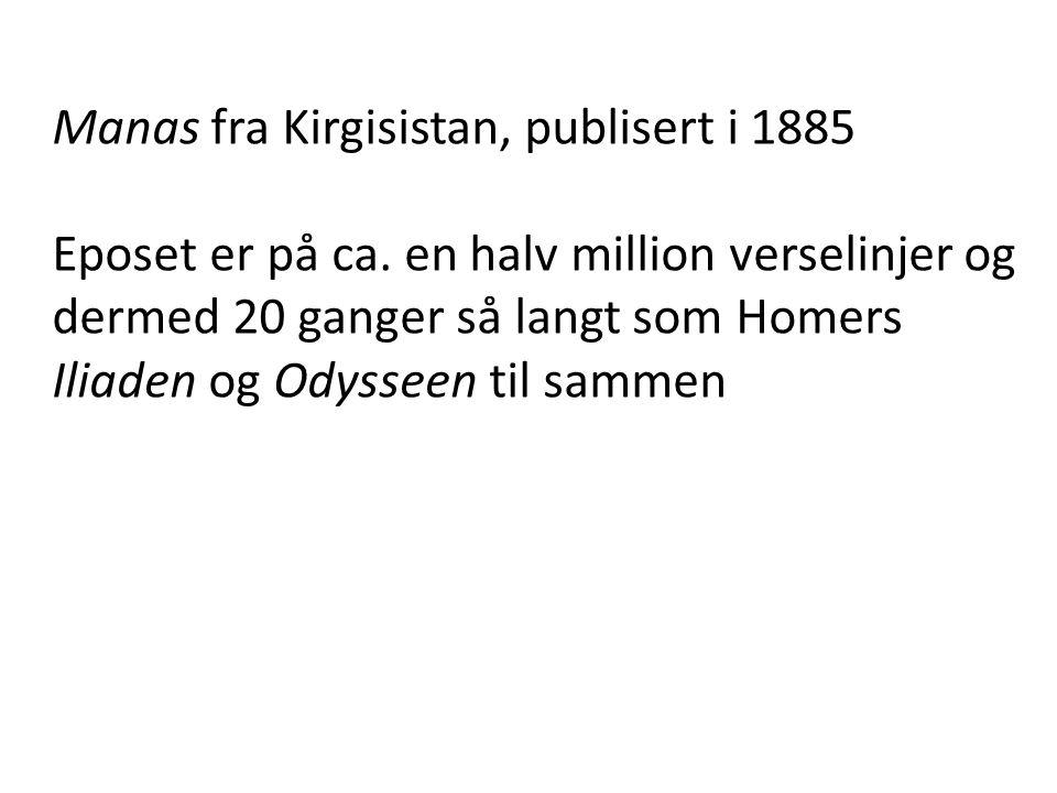 Manas fra Kirgisistan, publisert i 1885
