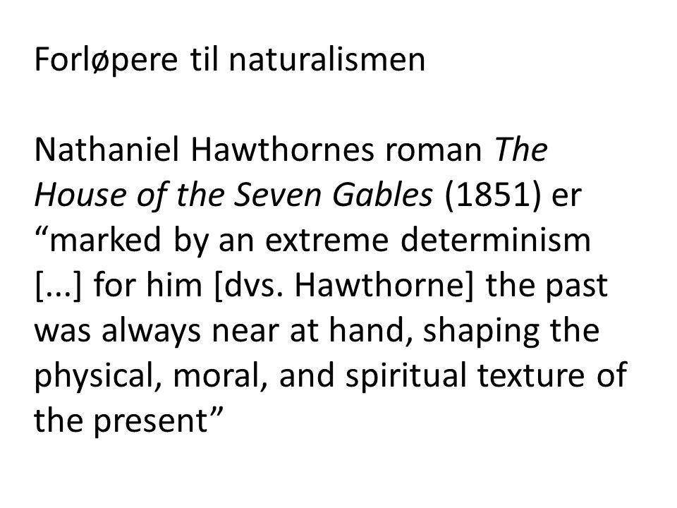 Forløpere til naturalismen