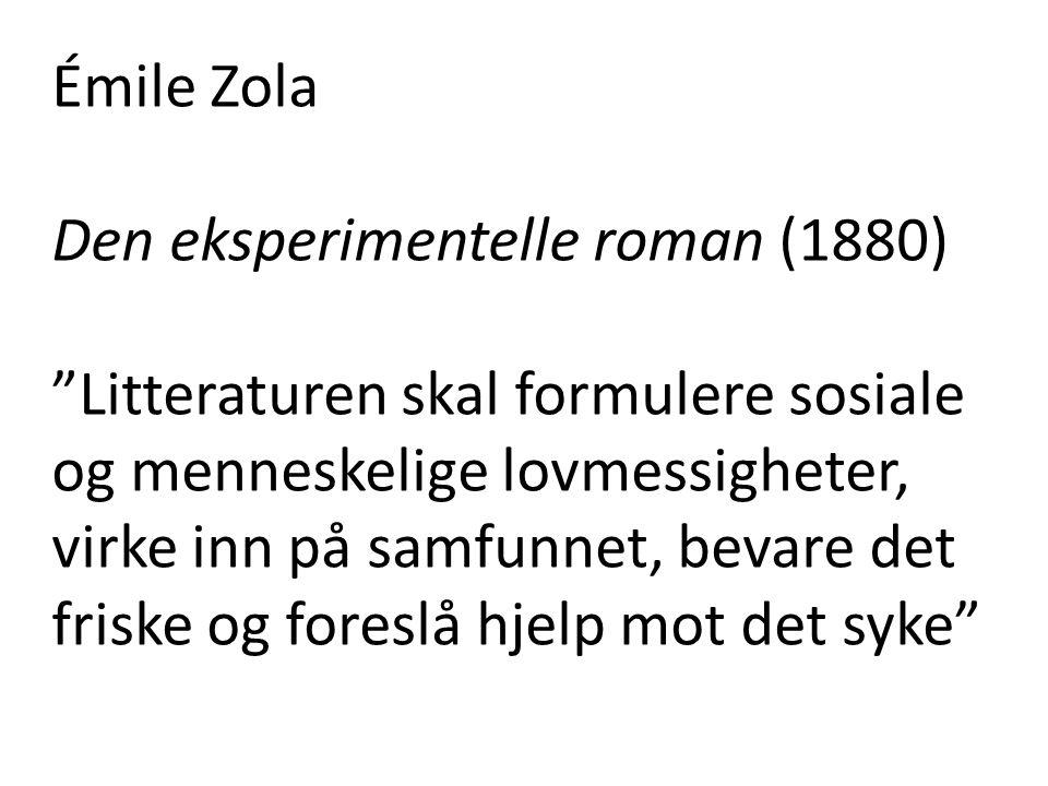 Émile Zola Den eksperimentelle roman (1880)