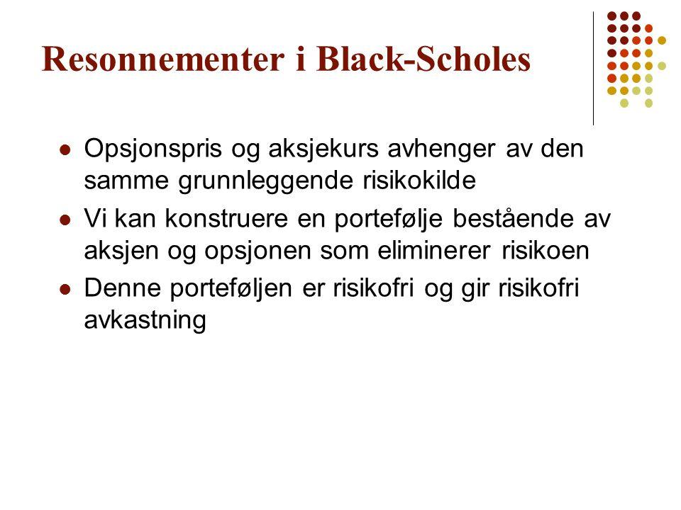 Resonnementer i Black-Scholes
