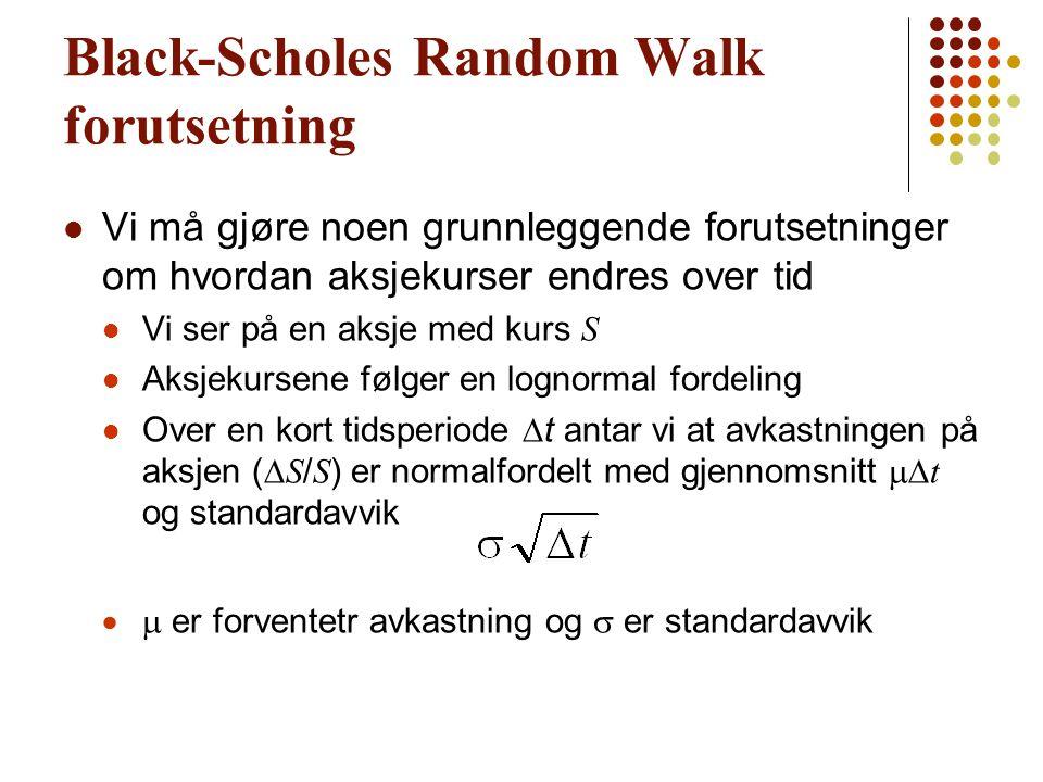 Black-Scholes Random Walk forutsetning