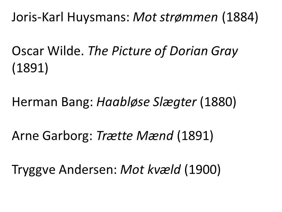 Joris-Karl Huysmans: Mot strømmen (1884)