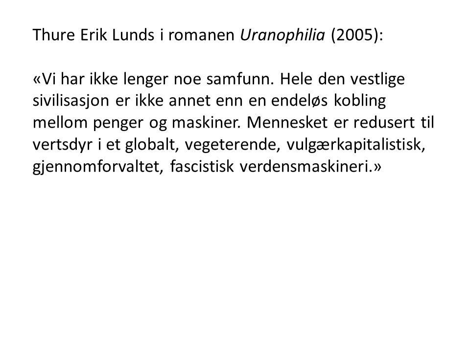 Thure Erik Lunds i romanen Uranophilia (2005):