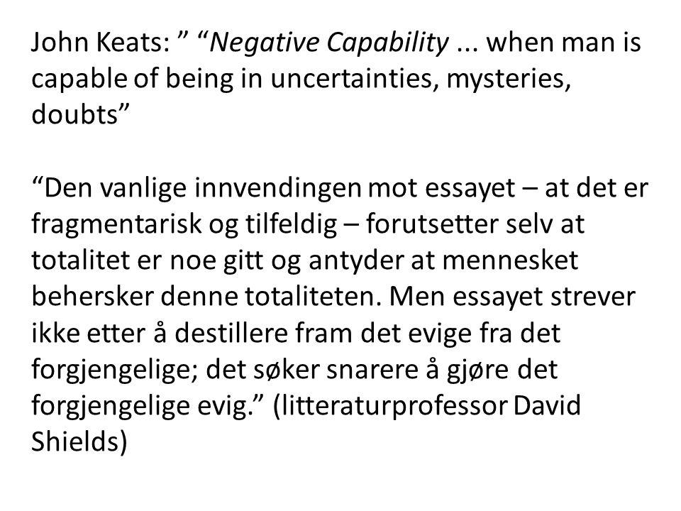 John Keats: Negative Capability