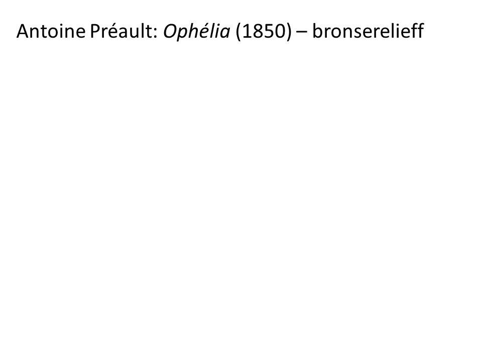 Antoine Préault: Ophélia (1850) – bronserelieff