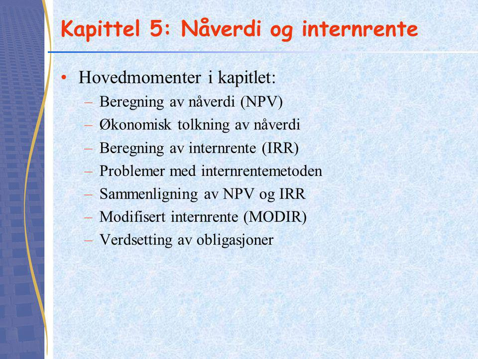 Kapittel 5: Nåverdi og internrente