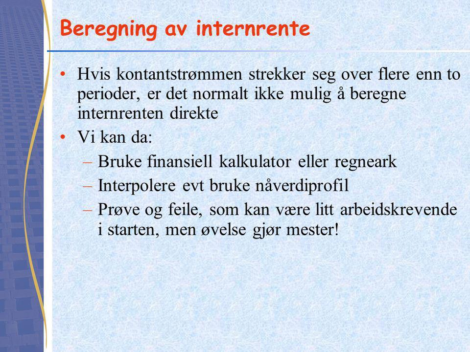 Beregning av internrente