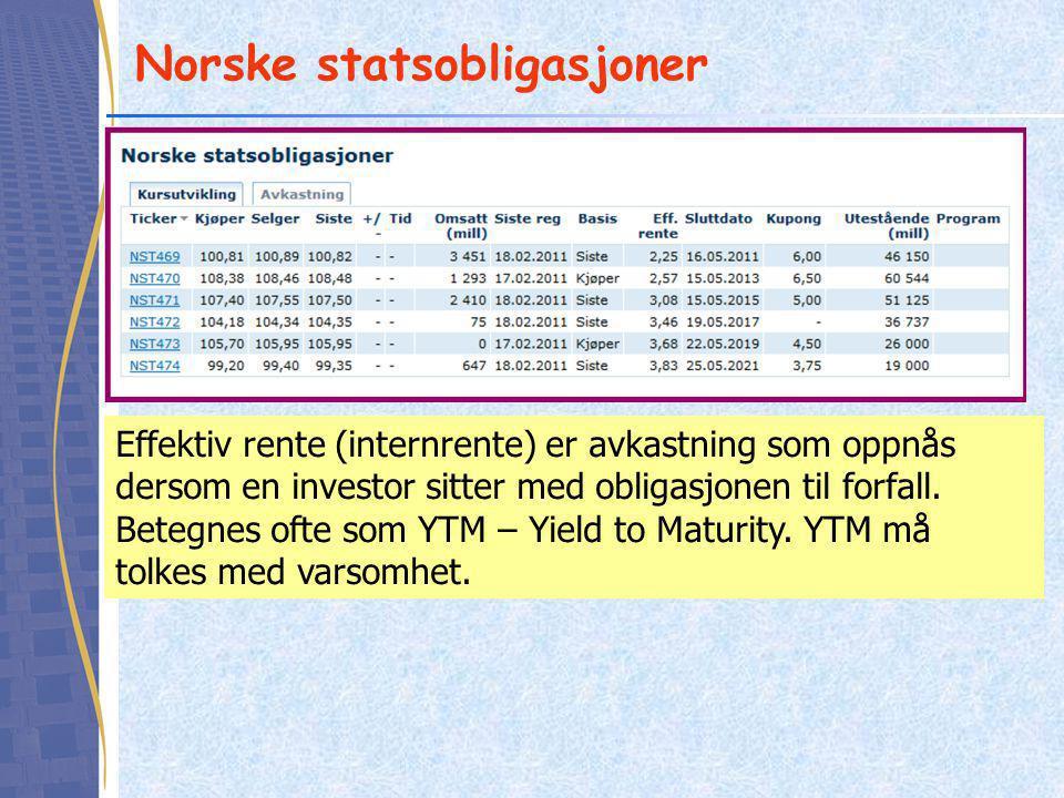 Norske statsobligasjoner