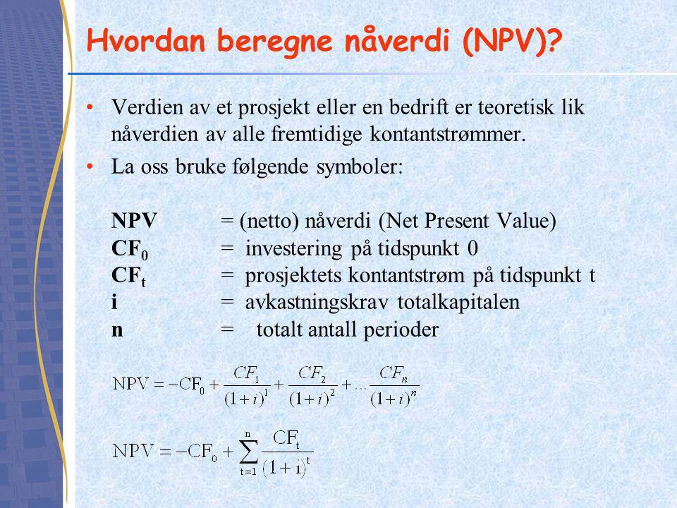 Hvordan beregne nåverdi (NPV)