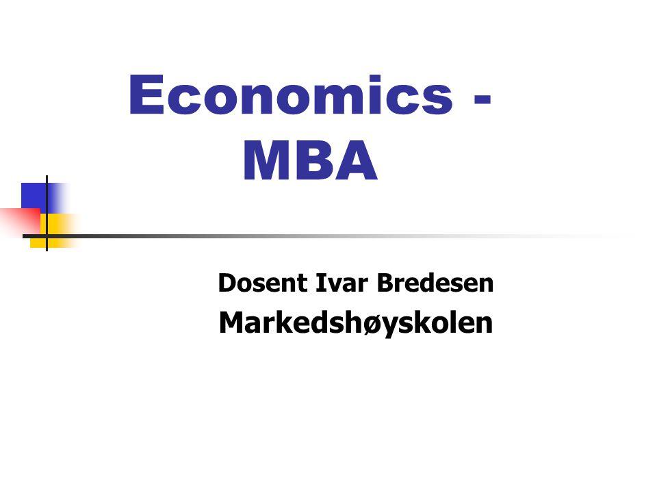 Dosent Ivar Bredesen Markedshøyskolen