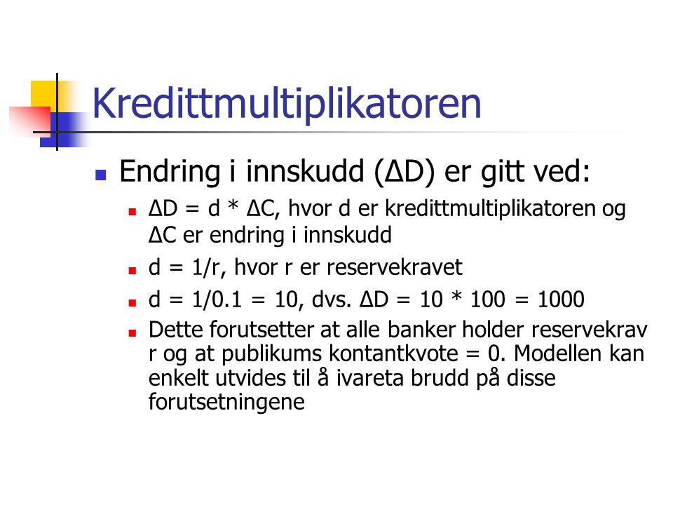 Kredittmultiplikatoren