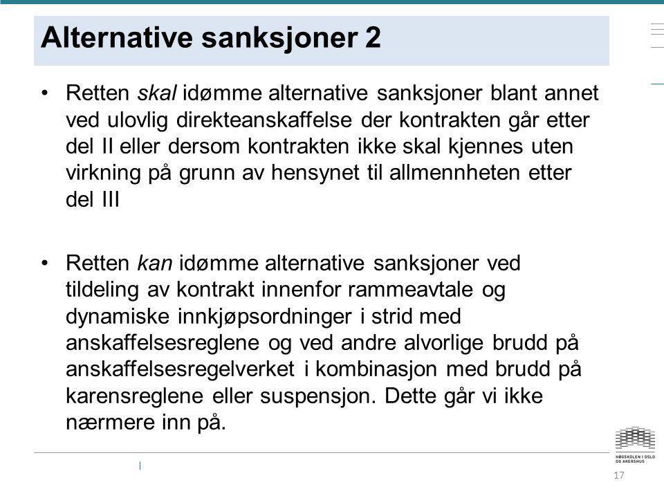 Alternative sanksjoner 2